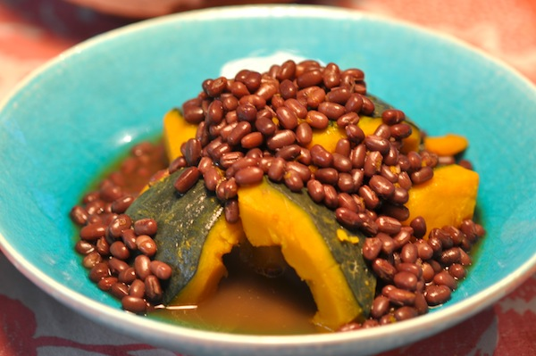 Braised Pumpkin with Aduki_1