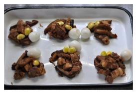 Fillings - Barbecue Pork, Shitake, Quail Eggs, Ginko Seeds