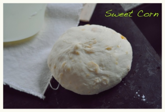White bread...Corn Bun