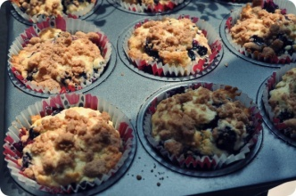 Martha Stewart recipe....Blueberry Muffins | ブルーベリーマフィン