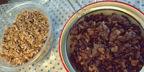 6 months rum and brandy soaked fruit.