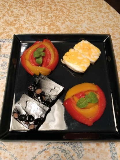 #Egg Washoku Style Terrine #Blackbean Washoku Style Terrine #Paprika Flowers Gelee